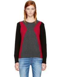 DSquared² - Multicolor Panel Crewneck Sweater - Lyst