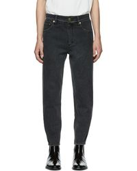3.1 Phillip Lim - Black Tapered Cropped Jeans - Lyst