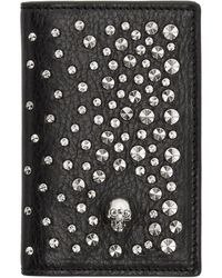 Alexander McQueen - Black Skull Pocket Organizer - Lyst