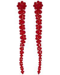 Simone Rocha - Red Short Drip Earrings - Lyst