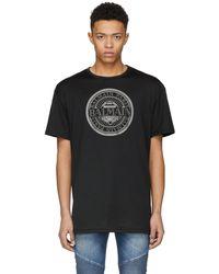 Balmain   Black Oversized Coin Print T-shirt   Lyst