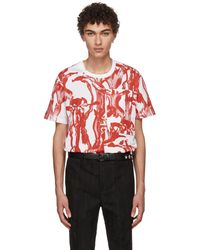 Givenchy | White And Red Iris Pocket T-shirt | Lyst