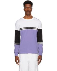 PS by Paul Smith - Purple Organic Striped Long Sleeve T-shirt - Lyst