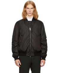 Moncler - Black Down Allix Bomber Jacket - Lyst