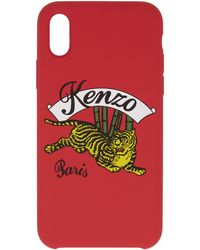 KENZO - Red Jumping Tiger Iphone X Case - Lyst
