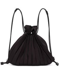 Issey Miyake - Black Linear Knit Bag - Lyst