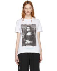 Off-White c/o Virgil Abloh - White Monalisa T-shirt - Lyst