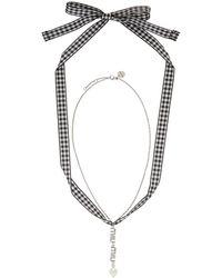 Miu Miu - Silver Crystal Necklace - Lyst