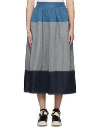 Visvim - Blue And White Elevation Skirt - Lyst
