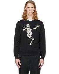 Alexander McQueen | Black Dancing Skeleton Sweatshirt | Lyst