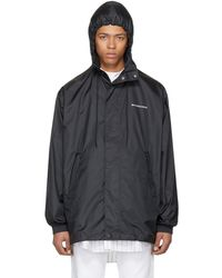 Balenciaga - Black Logo Windbreaker Jacket - Lyst