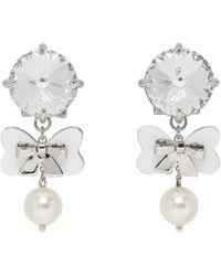 Miu Miu - Crystal And Pearl Drop Earrings - Lyst