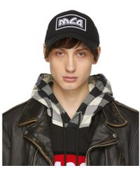 McQ - Black Embroidered Metal Logo Cap - Lyst