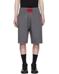 Givenchy - Grey Distressed Logo Boxing Shorts - Lyst