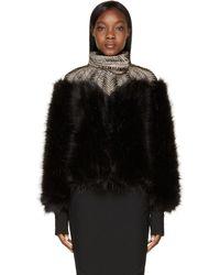 Iris Van Herpen - Black Fur Biopiracy Coat - Lyst