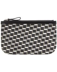 Pierre Hardy - Black And White Medium Cube Perspective Pouch - Lyst