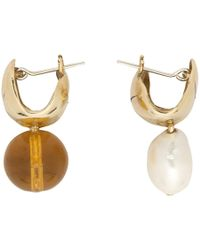 Faris - Bronze Chub Earrings - Lyst