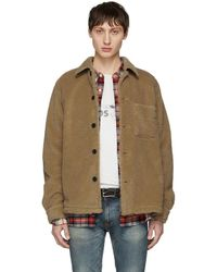 Nudie Jeans - Beige Recycled Fleece Sten Jacket - Lyst