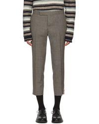 Thom Browne - Grey Low-rise Skinny Side Tab Trousers - Lyst