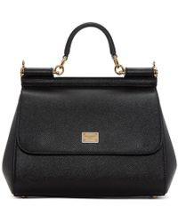 Dolce & Gabbana - Black Large Miss Sicily Bag - Lyst