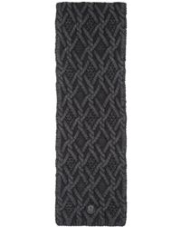 Moncler | Black Cable Knit Scarf | Lyst