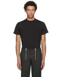 Helmut Lang   Black Skinny Tall Military T-shirt   Lyst