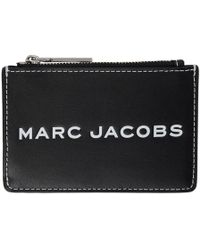 Marc Jacobs - Tag Black Logo Leather Card Holder - Lyst