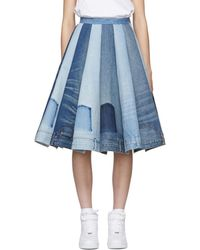 de2d81e80a Junya Watanabe Indigo Studded Denim Skirt in Blue - Lyst