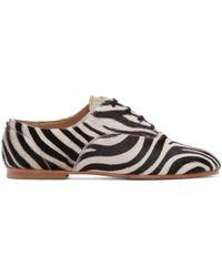 Junya Watanabe - Black & White Zebra Oxfords - Lyst