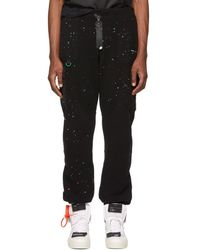 Off-White c/o Virgil Abloh - Black Paint Splatter Lounge Pants - Lyst