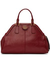 Gucci - Red Small Linea Top Handle Bag - Lyst
