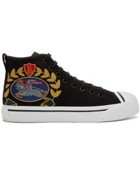 Burberry - Black Kingly Big C High-top Sneakers - Lyst