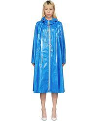 CALVIN KLEIN 205W39NYC - Blue Drawstring Tent Coat - Lyst