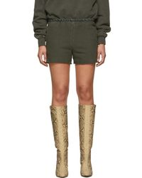 Yeezy - Green Sweat Shorts - Lyst