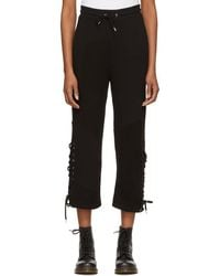 McQ - Black Patch Boyfriend Lounge Pants - Lyst
