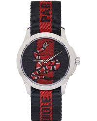 Gucci - Navy And Red Laveugle Par Amour Snake Watch - Lyst