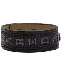 DSquared² - Black Leather Logo Fringes Bracelet - Lyst