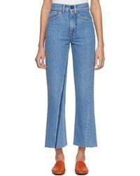 Ports 1961 - Blue Contrast Pocket Jeans - Lyst