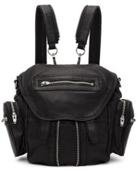 Alexander Wang - Black & Silver Mini Marti Backpack - Lyst