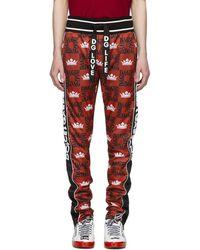 Dolce & Gabbana - レッド クラウン ロゴ ラウンジ パンツ - Lyst