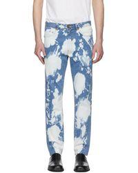 Wheir Bobson - Blue Chem Bleach Slim Jeans - Lyst
