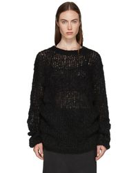 Ann Demeulemeester - Black Loose Stitch Knit Sweater - Lyst