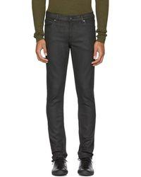 BLK DNM - Black Coated Skinny Taper '5' Jeans - Lyst
