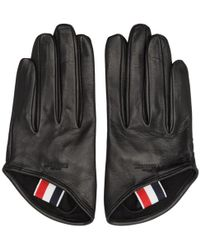 Thom Browne - Black Unlined Lowcut Gloves - Lyst