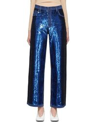 Ashish - Navy Sequin Jeans - Lyst