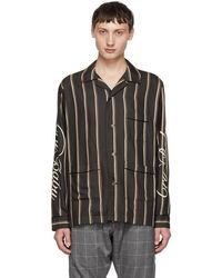 Christian Dada - Navy And Beige Cry Baby Striped Shirt - Lyst