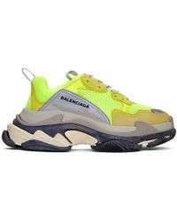 Balenciaga - Triple S Mesh And Suede Sneakers - Lyst