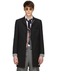 Thom Browne - Black High Armhole Chesterfield Coat - Lyst