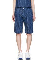Sunnei - Blue Denim Bermuda Shorts - Lyst