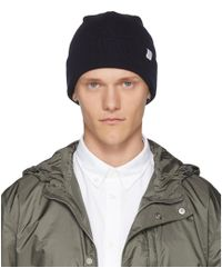 Norse Projects - Navy Merino Wool Beanie - Lyst